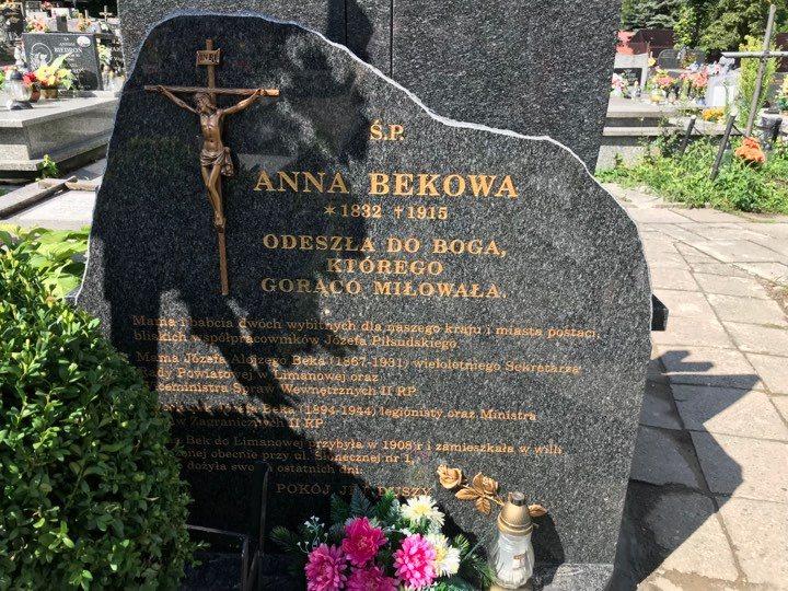 grób Anny Bekowej Limanowa